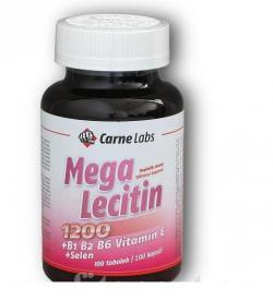 Carne Labs Mega Lecitin 1200+B1 B2 B6 E+Selen 100 kapslí