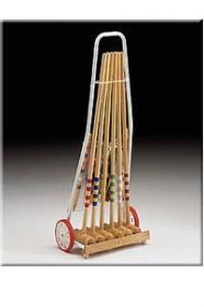 Kroket Londero 6 hráčů - kovový vozík