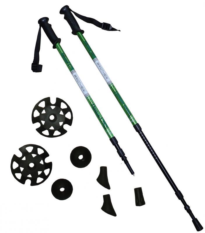 ACRA LTH130 zelené Trekingové hole - 1 pár s příslušenstvím