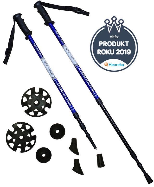 ACRA LTH130 modré Trekingové hole - 1 pár s příslušenstvím