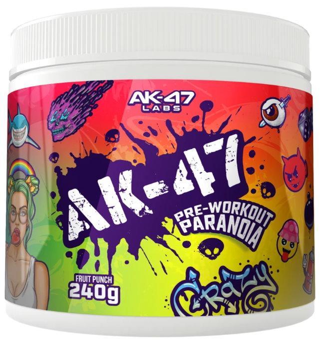 AK47 Labs Pre-Workout Paranoia 240 g - citron - limetka