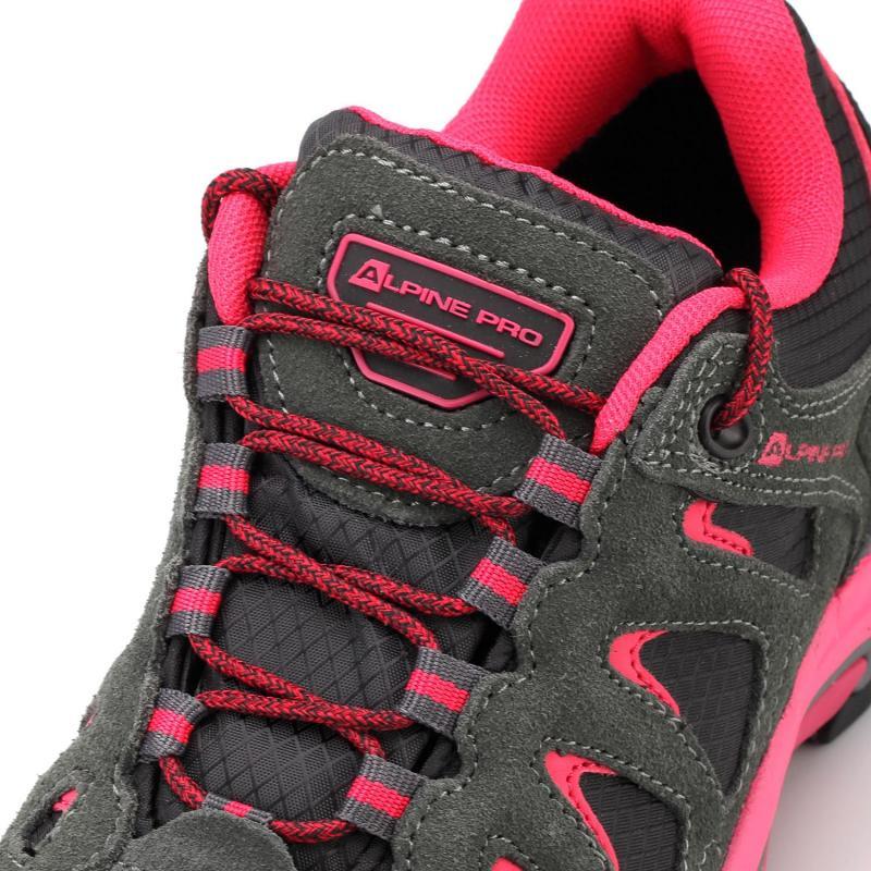 4123f74bc9b ... Alpine Pro CHELIN šedo růžové dámské outdoor boty + osvěžovač obuvi ...
