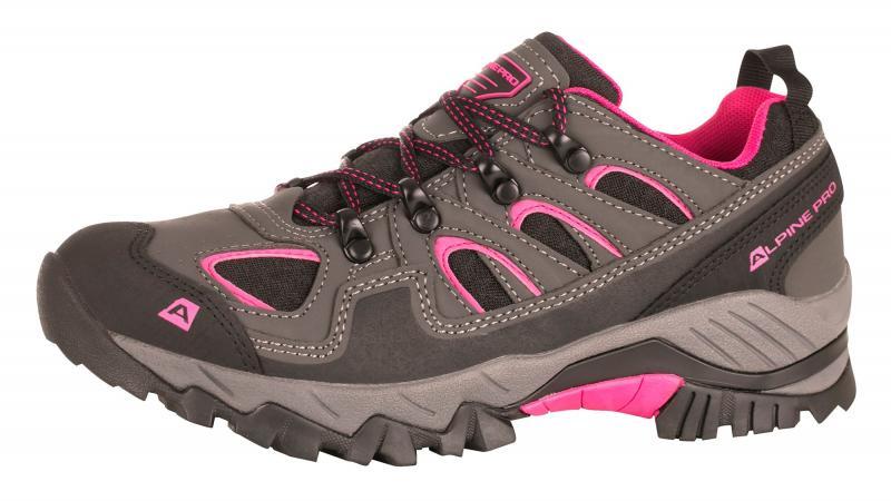 eb24e95499 Alpine Pro DINESCH šedo růžová dámská outdoor obuv + osvěžovač obuvi ...