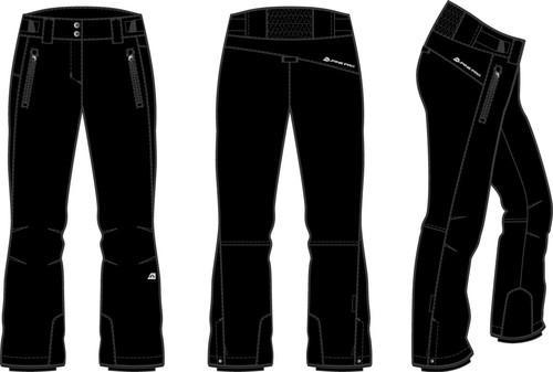 Alpine Pro FLEMERA černé dámské lyžařské kalhoty  0e285a0611
