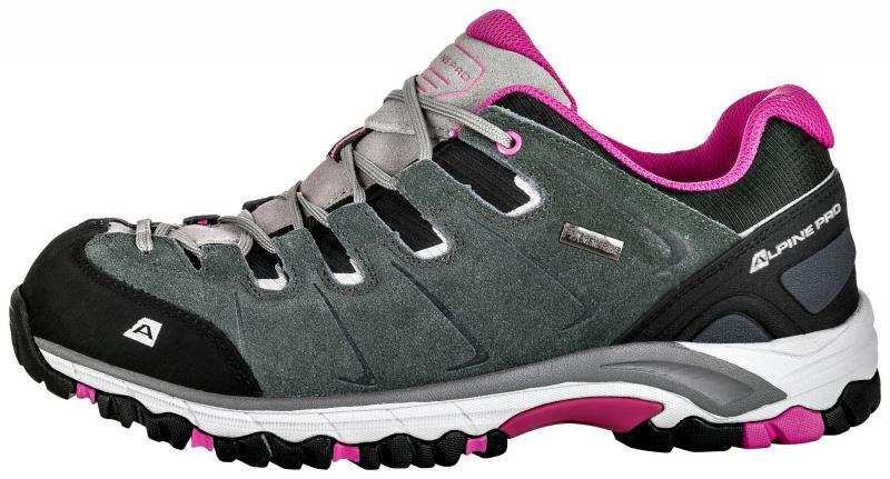 07e0cfb47df Alpine Pro MALVIN šedo růžová dámská outdoor obuv