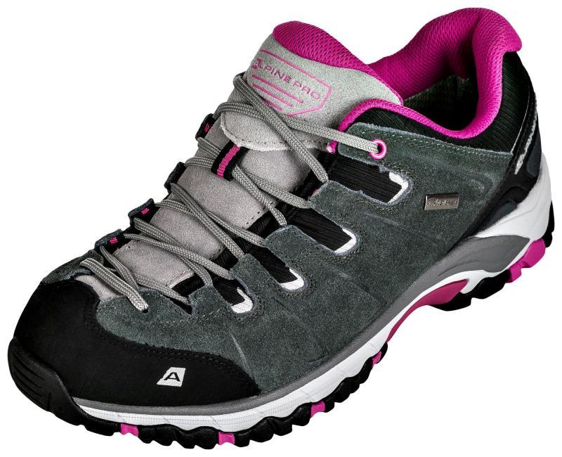 6d2f94fd7b4 Zvětšit · Alpine Pro MALVIN šedo růžová dámská outdoor obuv ...
