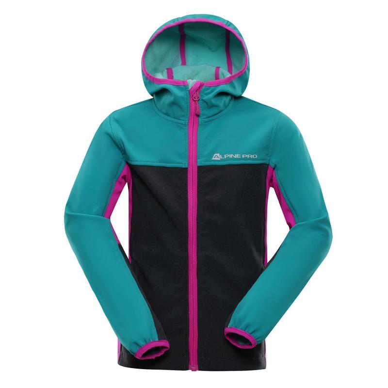 f2439f7c8b Alpine Pro NOOTKO 3 tyrkysová dětská softshell bunda