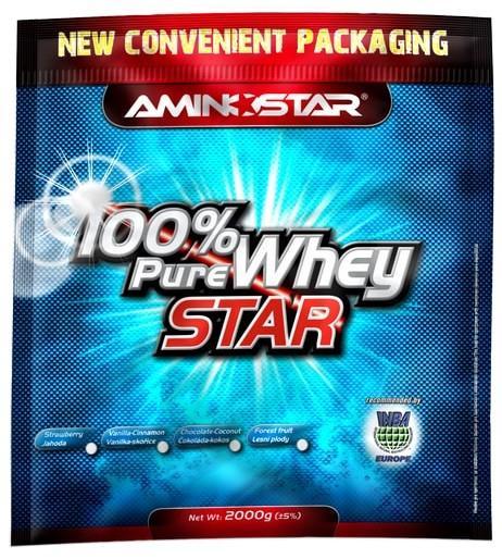 Aminostar 100% Pure Whey star 2000 g - čokoláda - kokos