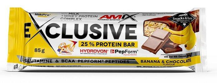 Amix Exclusive Bar 85 g - čokoláda - pomeranč