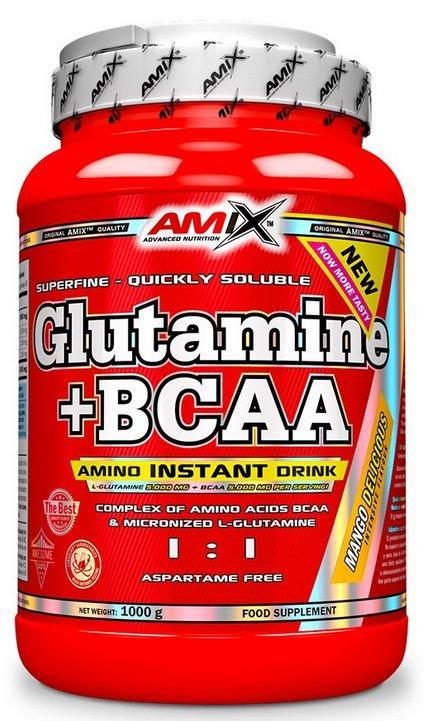 Amix Glutamine + BCAA 1000 g - bez příchutě