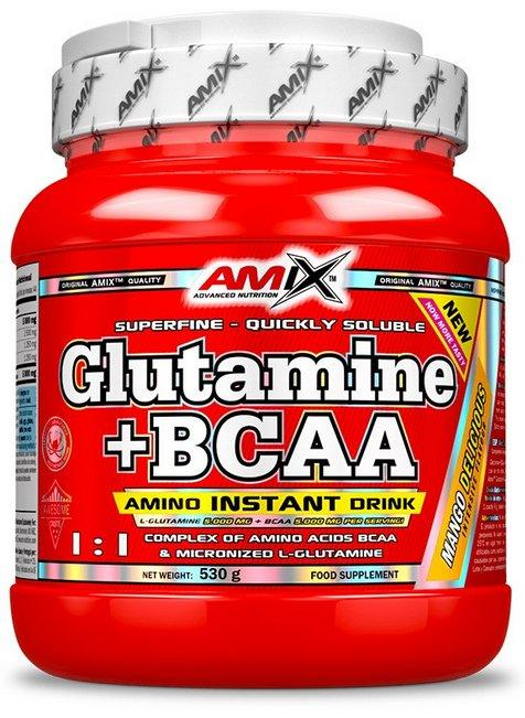 Amix Nutrition Glutamine + BCAA 530 g - mango