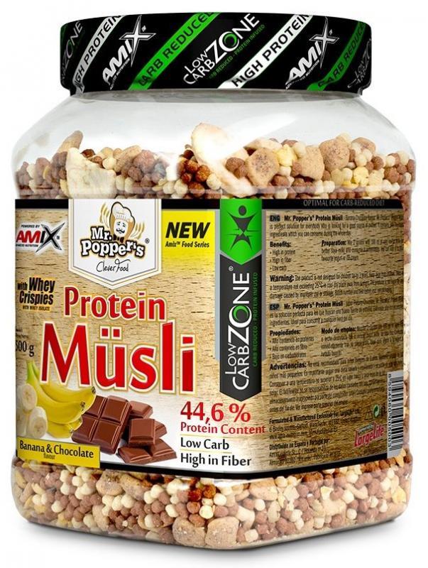 Amix Protein Müsli 500 g - banán - čokoláda