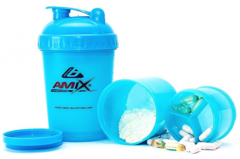 Amix Shaker Monster Bottle Color 600 m - růžová
