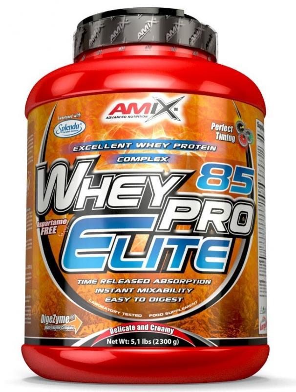Amix Whey Pro Elite 85% 2300 g - banán