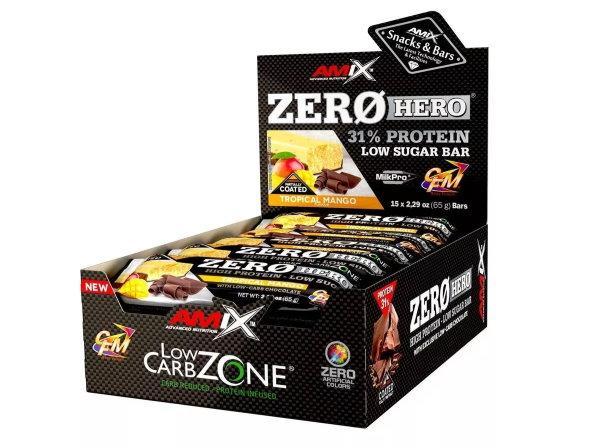 Amix Zero Hero 31% Protein Bar 15×65 - arašídové máslo