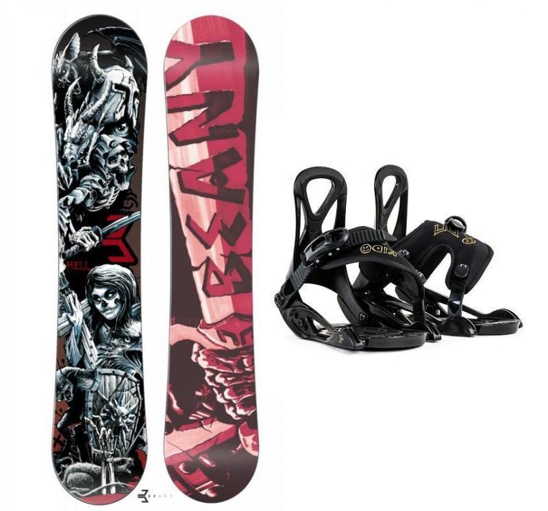 Beany Hell snowboard + Beany Kido dětské vázání - 115 cm + EU (EU 25-31)