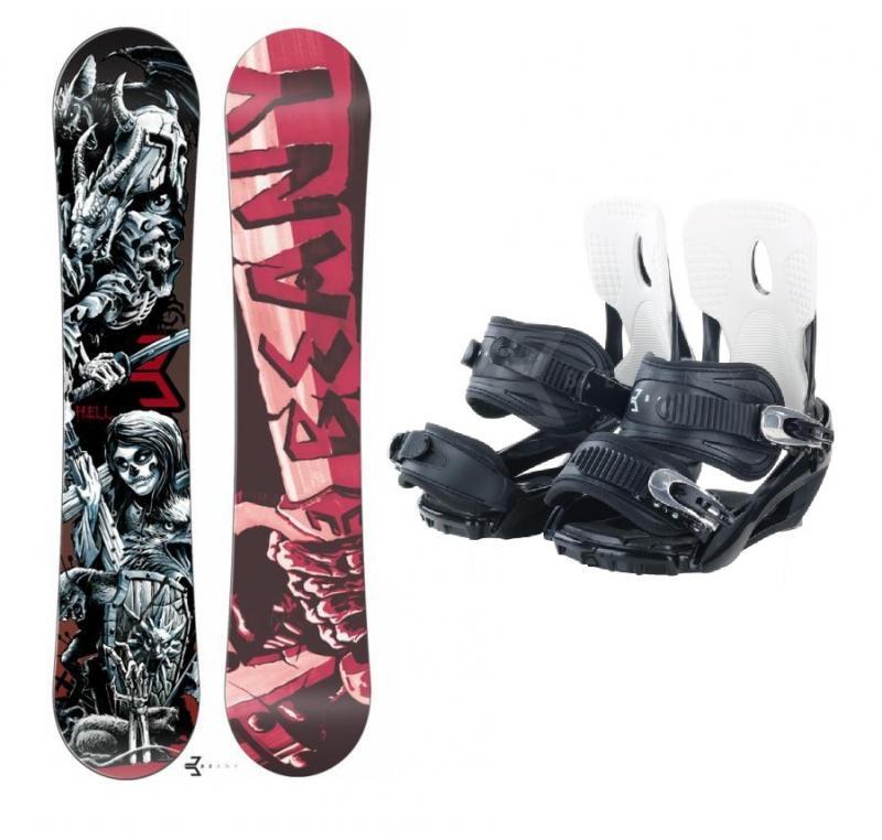 Beany Hell snowboard + Beany Lucky snowboardové vázání - 144 + S (EU 37-40)