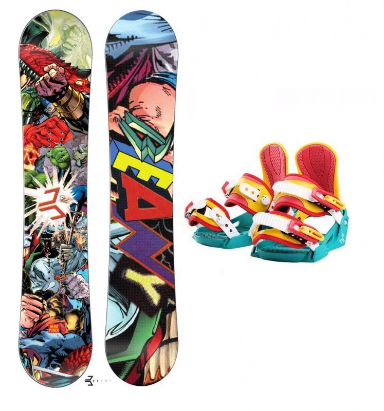 Beany Heropunch dětský snowboard + vázání Beany Junior - 151 cm + S - EU 32-37 (200-235mm)