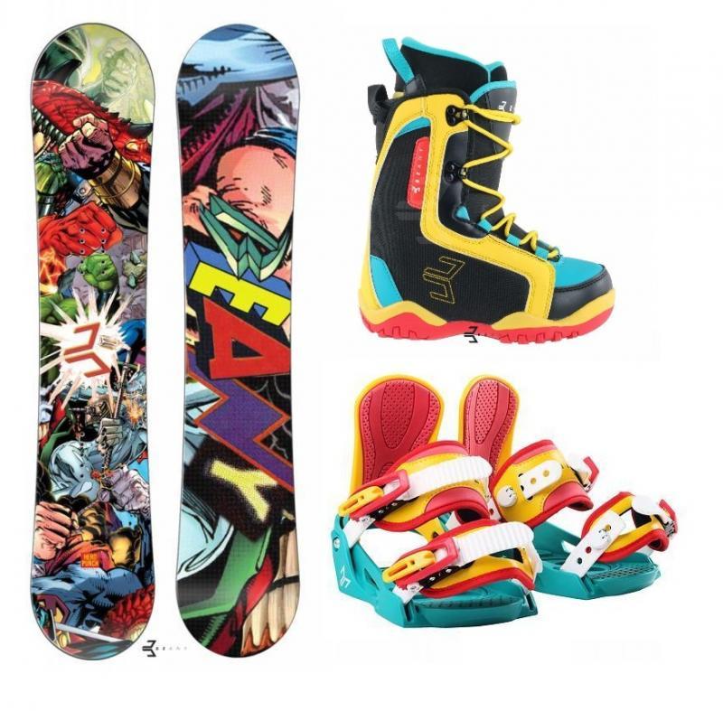 Beany Heropunch dětský snowboard + vázání Beany Junior + boty Beany - 139 + S - EU 32-37 (200-235mm)