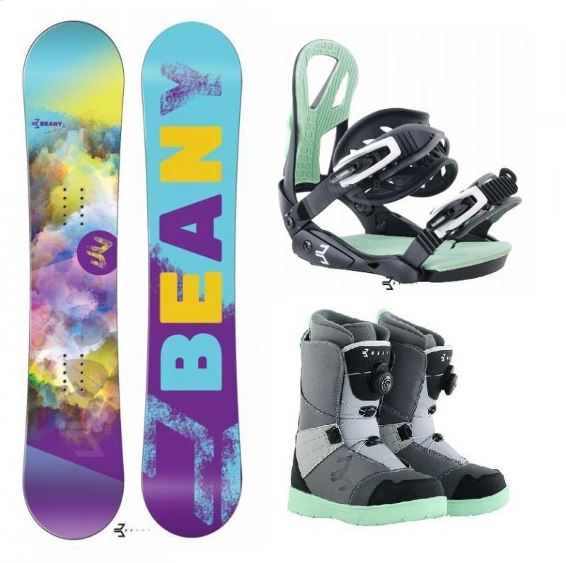 Beany Meadow dámský snowboard + vázání Beany Teen + boty Beany Ninja - 120 cm
