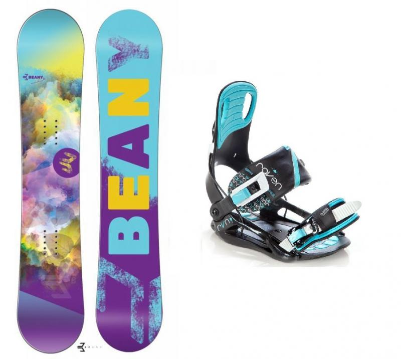 Beany Meadow dámský snowboard + vázání Raven Starlet black/mint - 138 cm + S (EU 35-39)