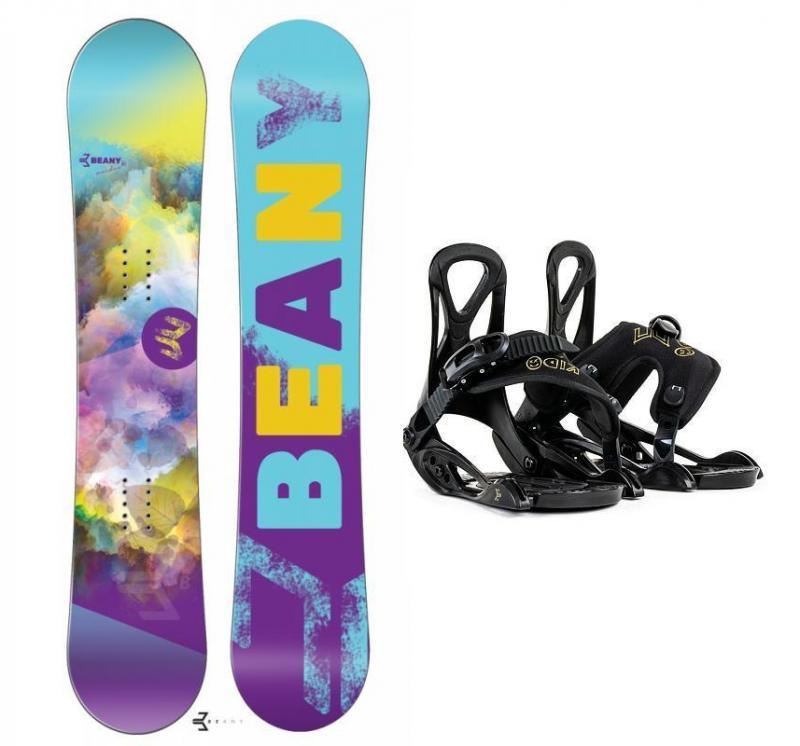 Beany Meadow dívčí snowboard + Beany Kido dětské vázání - 120 cm + EU (EU 25-31)