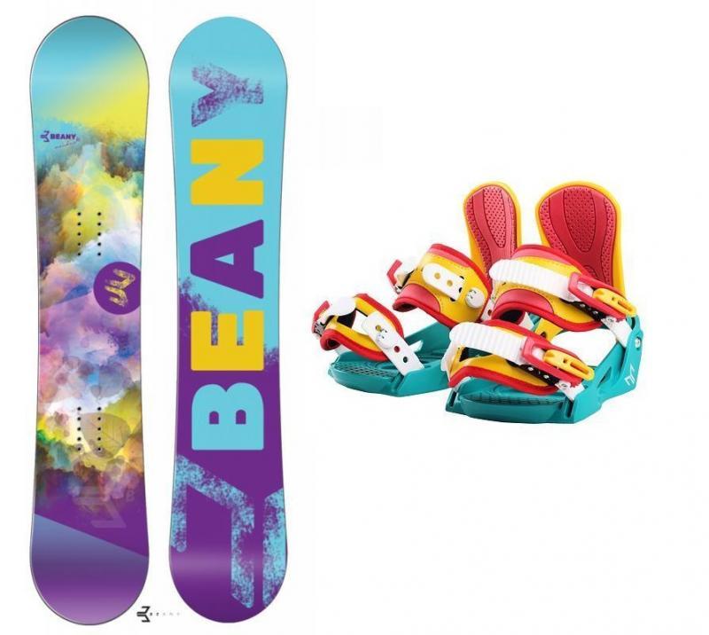 Beany Meadow dívčí snowboard + vázání Beany Junior - 120 cm + S - EU 32-37 (200-235mm)