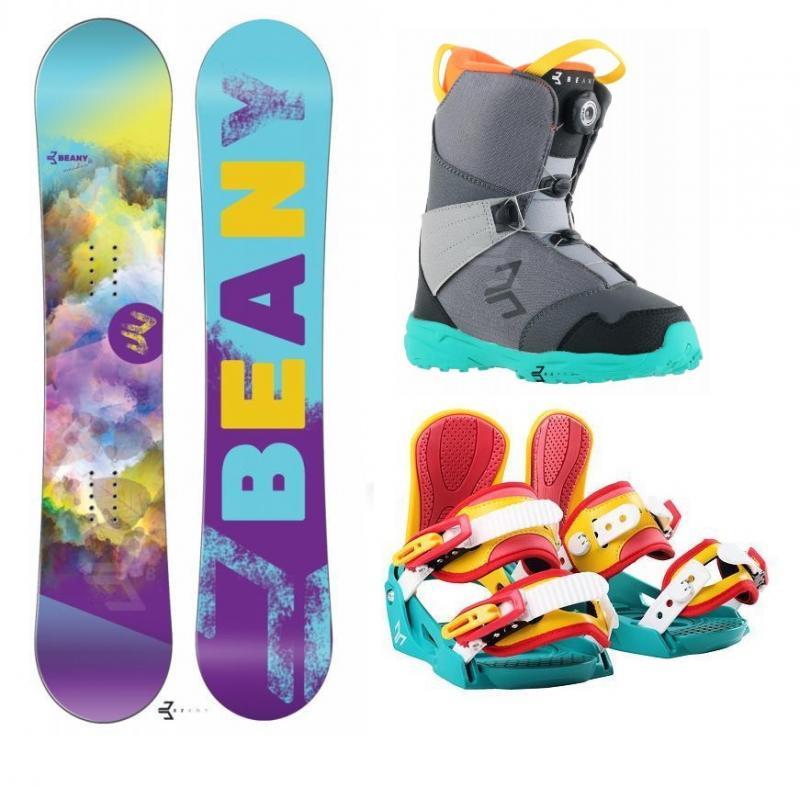 Beany Meadow dívčí snowboard + vázání Beany Junior snowboardové + boty Beany - 100 cm + S - EU 32-37 (200-235mm)