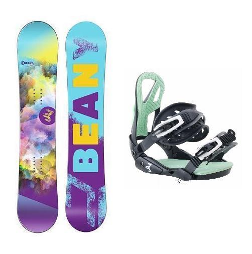 Beany Meadow dívčí snowboard + vázání Beany Teen - 100 cm