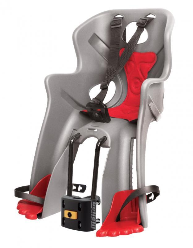 Bellelli Rabbit B-Fix stříbrno-červená přední cyklosedačka
