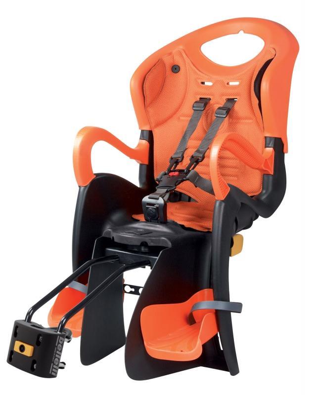 BELLELLI TIGER Standart B-FIX črn-oranž/oranžová zadní cyklosedačka