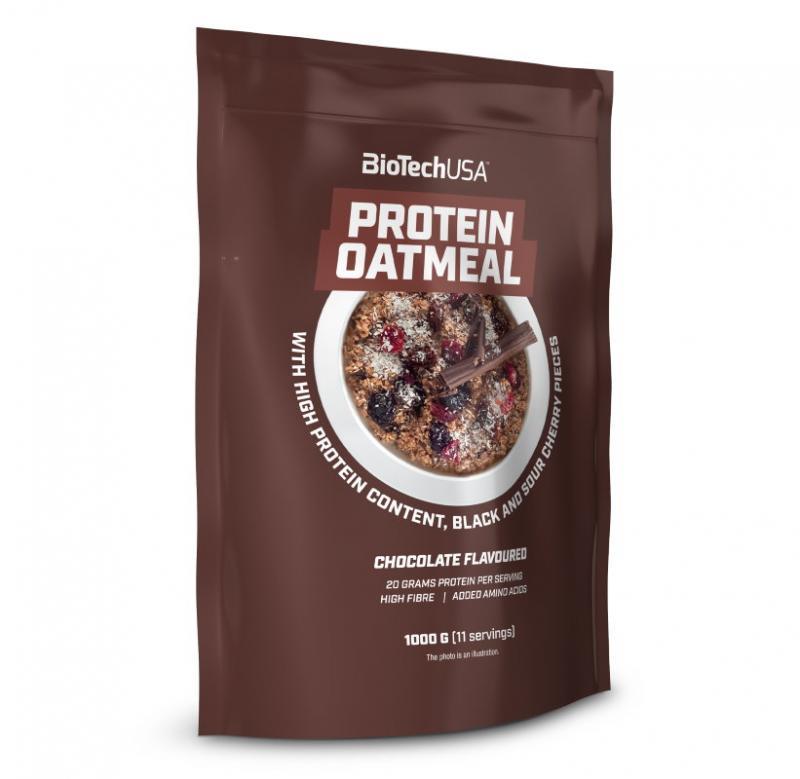BioTech Oatmeal 1000 g - čokoláda - třešeň