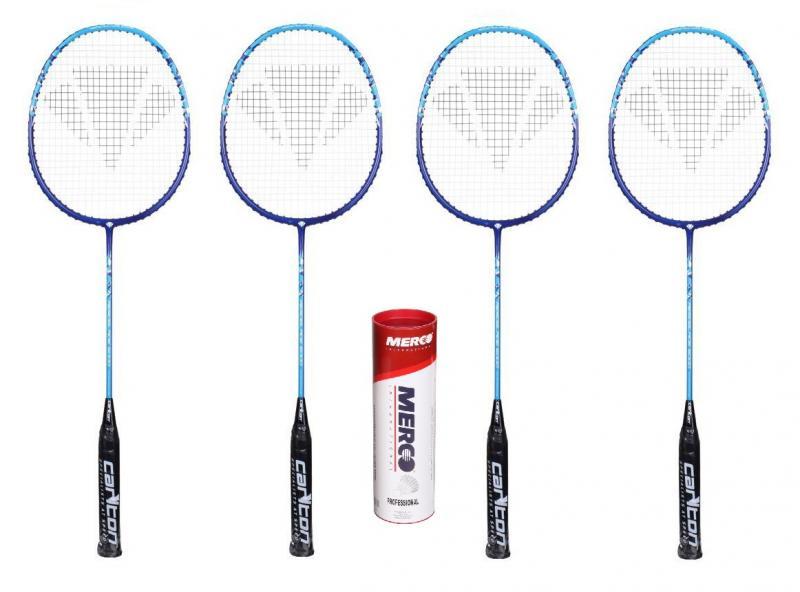 Carlton Aeroblade 5000 Blue raketa (výhodný set 4ks) + Merco badmintonové míčky