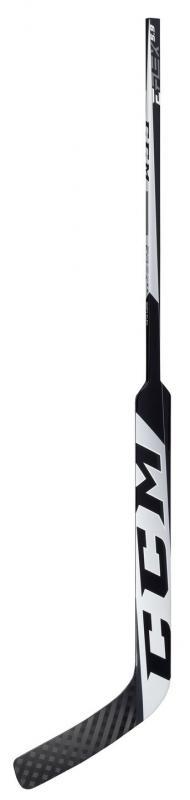 CCM Brankářská hokejka Eflex 5.9 SR - bílá-černá, Senior, 25, R, P4