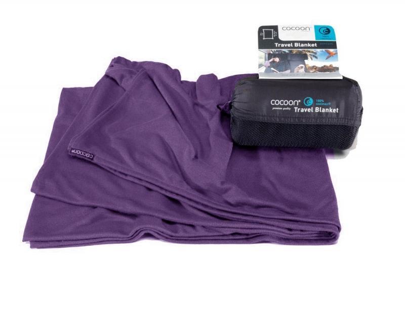 Cocoon cestovní deka Coolmax eggplant