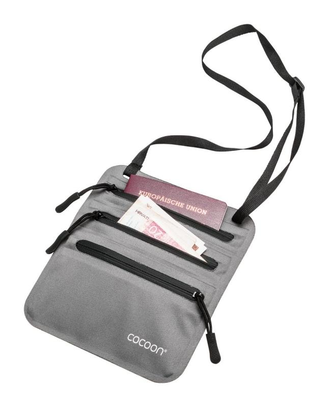 Cocoon skrytá kapsa Secret Neck Wallet grey/blue