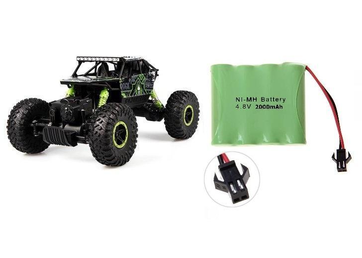 CONQUEROR 4x4 - 2,4Ghz - 1/18 - malý crawler - zelený + Náhradní akumulátor 2000mAh