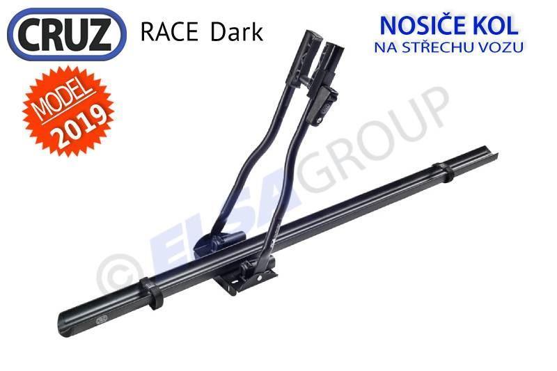 CRUZ Race Dark 2019, uzamykatelný nosič na kolo na střechu + adaptér el. přípojky Zdarma