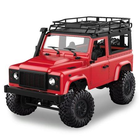D90 Rock Crawler Defender 1:12, 4WD, 2,4 GHz, LED, 100% RTR, červená