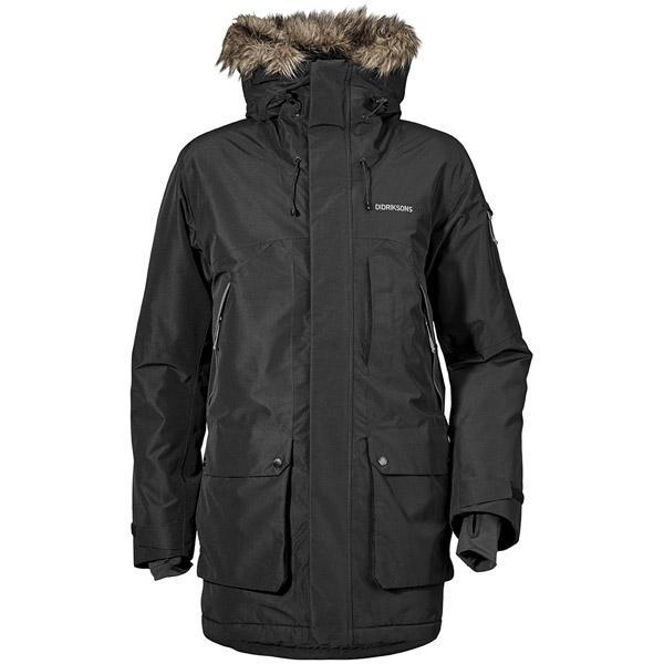 Didriksons MARCEL černý kabát + čepice zdarma  686e93aa515