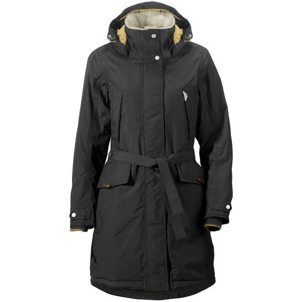 Didriksons VOYAGE černý dámský zimní kabát + čepice zdarma  065baf9004d