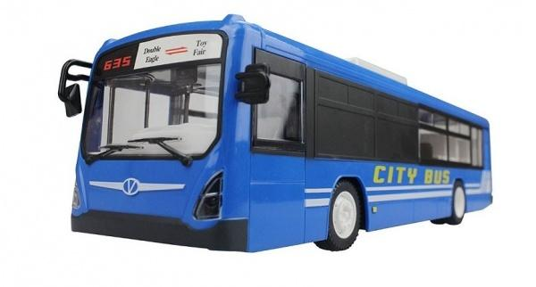 Double Eagle Městský autobus na dálkové ovládání - modrý