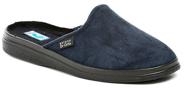 Dr. Orto - Befado Dr. Orto 132M006 modré pánské zdravotní pantofle - EU 44