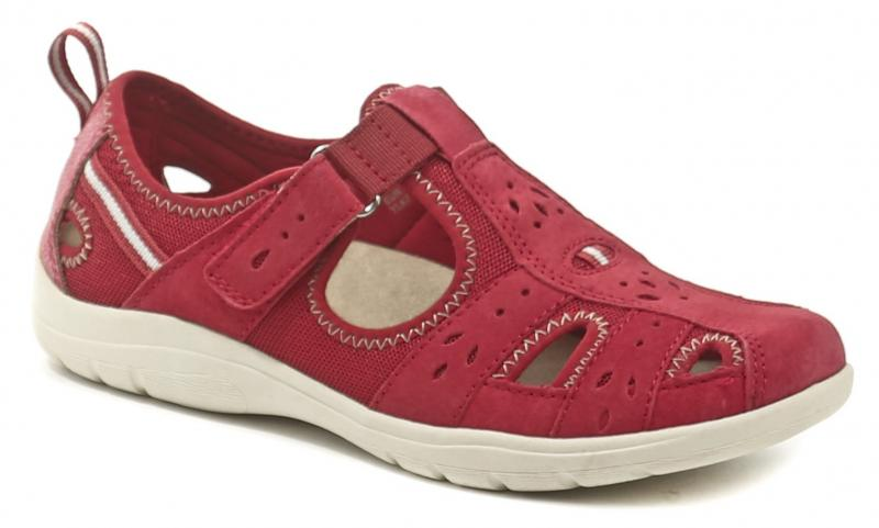 Earth Spirit Cleveland červená dámská letní obuv - EU 39