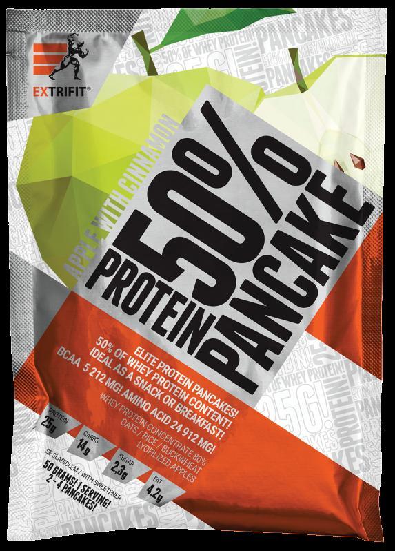 Extrifit Protein Pancake 50% 50 g - jablko - skořice