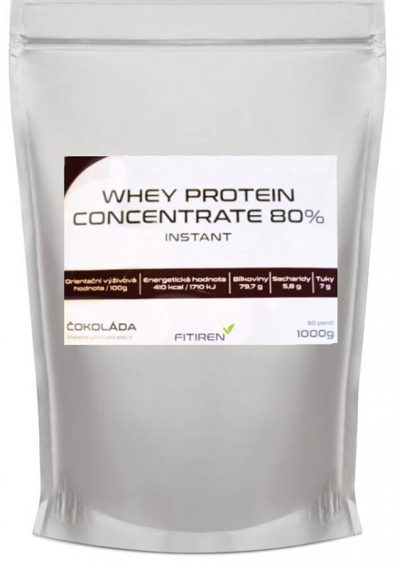 Fitiren Whey Protein Concentrate 80% 1000 g natural - bez příchutě
