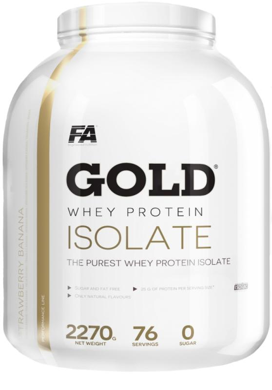 Fitness Authority Gold Whey Protein Isolate 2270g - jahoda - banán