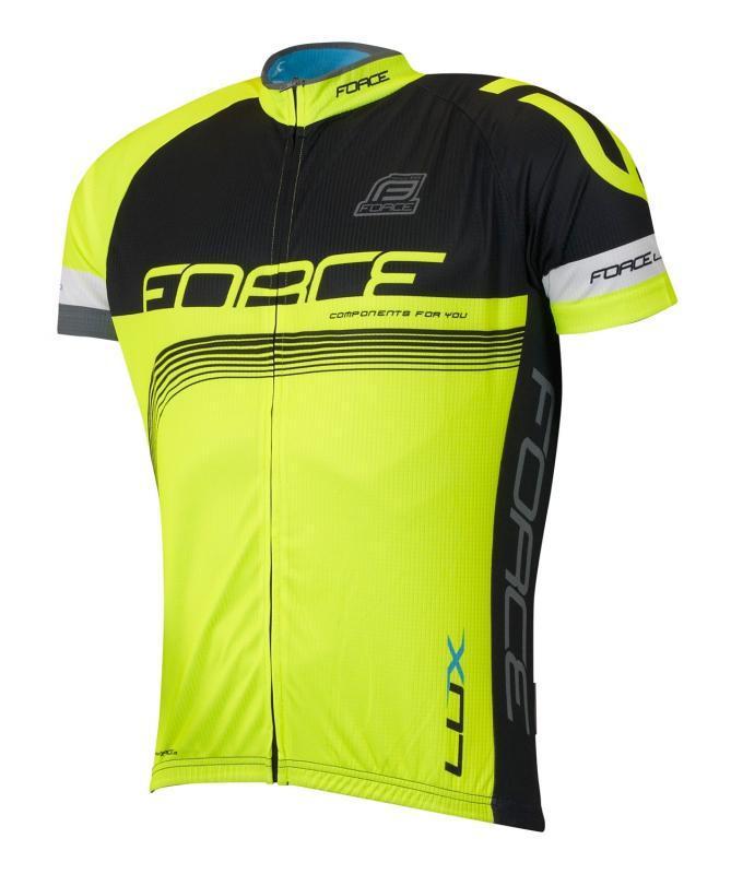 4baf73ae982 Zvětšit · Force LUX černo-fluo cyklistický dres + Force B45 šortky se šráky  (výhodný set ...