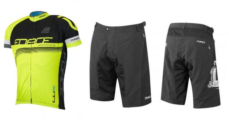 Force LUX černo-fluo cyklistický dres + Force MTB-11 cyklokraťasy (výhodný  set 24c319a318