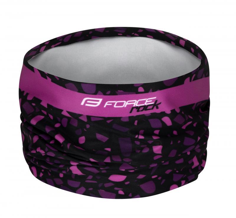 Force Šátek ROCK jaro/podzim, černo-růžový UNI